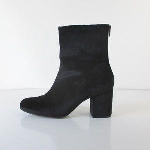 Free People Cecile Black Velvet Ankle Boot 39